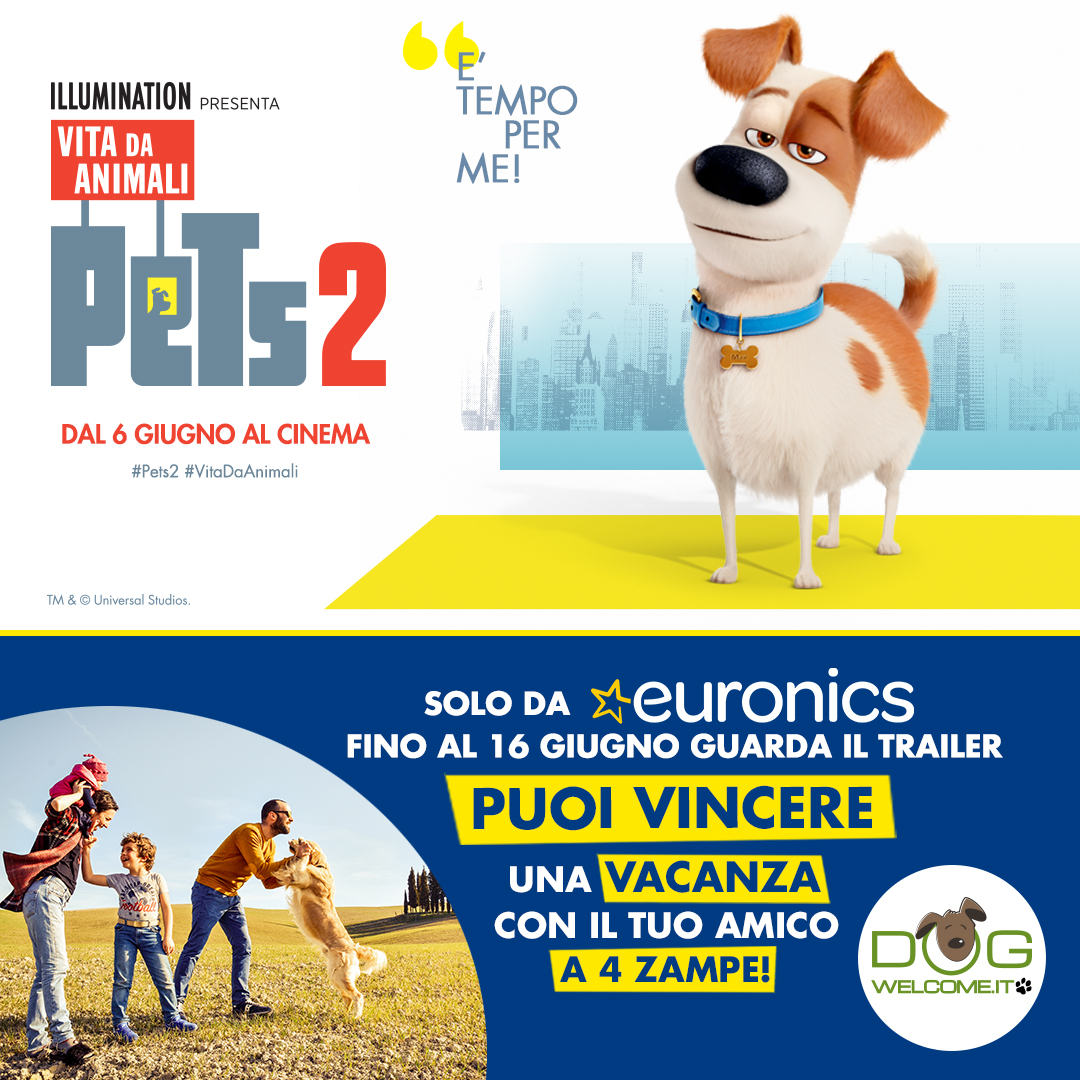 Vola al cinema e vinci una vacanza pet friendly in una struttura Dogwelcome!
